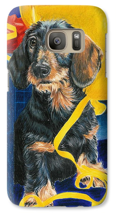 Dogs Galaxy S7 Case featuring the drawing Happy Birthday by Barbara Keith
