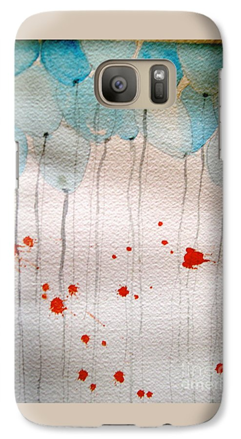Balloon Celebrate Fun Happy Play Galaxy S7 Case featuring the painting Happy Birthday Katherine by Patricia Caldwell