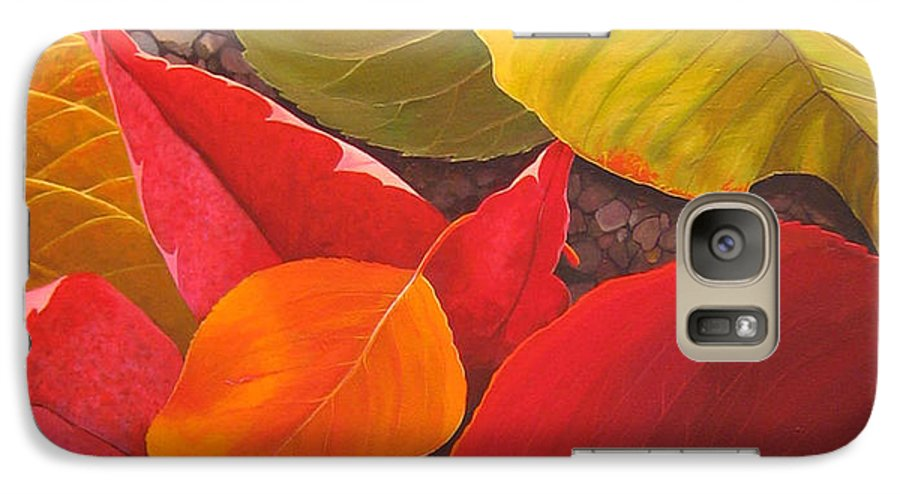 Autumn Leaves Galaxy S7 Case featuring the painting Happy Landings by Hunter Jay