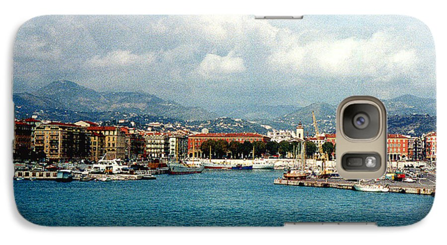 Landscape Galaxy S7 Case featuring the photograph Harbor Scene In Nice France by Nancy Mueller