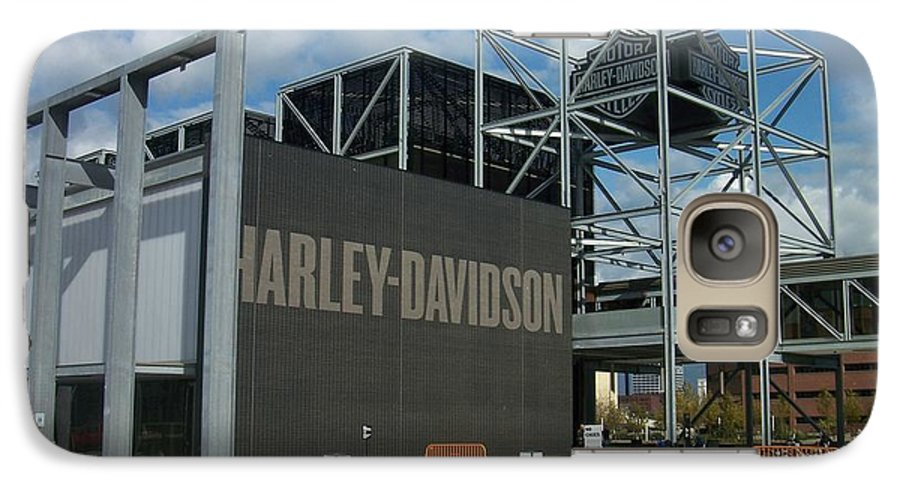 Galaxy S7 Case featuring the photograph Harley Museum by Anita Burgermeister