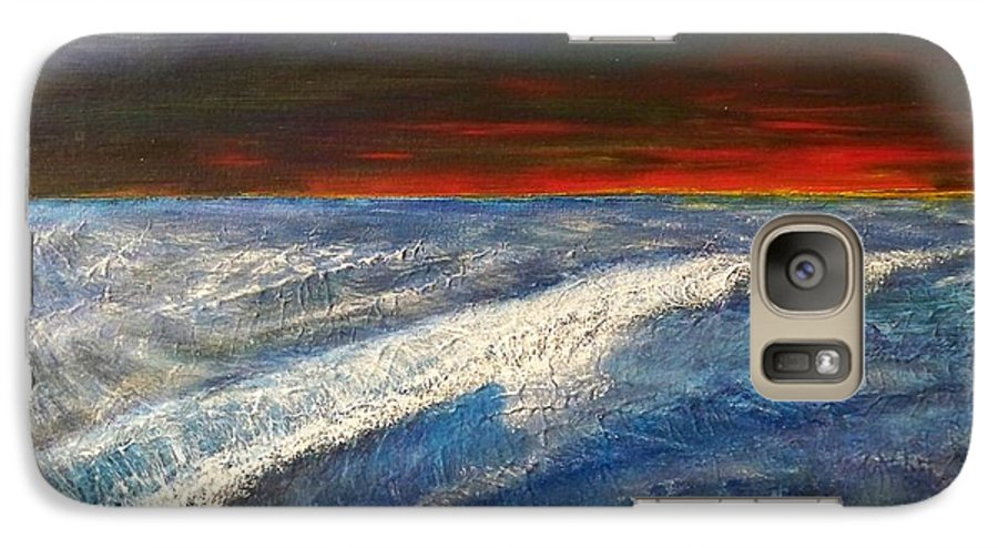 Beaches Galaxy S7 Case featuring the painting Hawiian View by Michael Cuozzo
