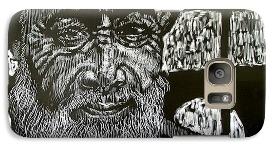 Galaxy S7 Case featuring the mixed media Hayes Street Wizard by Chester Elmore