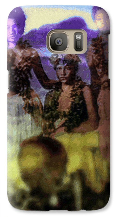 Tropical Interior Design Galaxy S7 Case featuring the photograph He Hohona Aeoia by Kenneth Grzesik