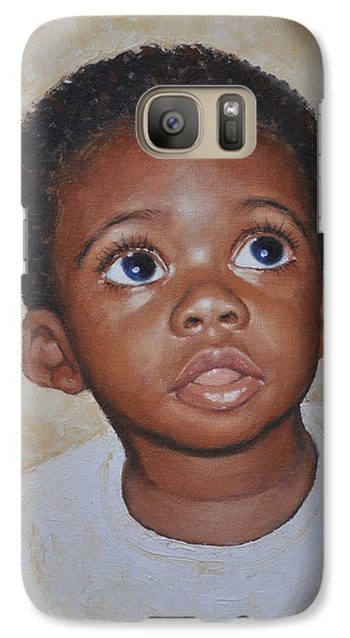 Portaits Galaxy S7 Case featuring the painting He Is Coming by Iliyan Bozhanov