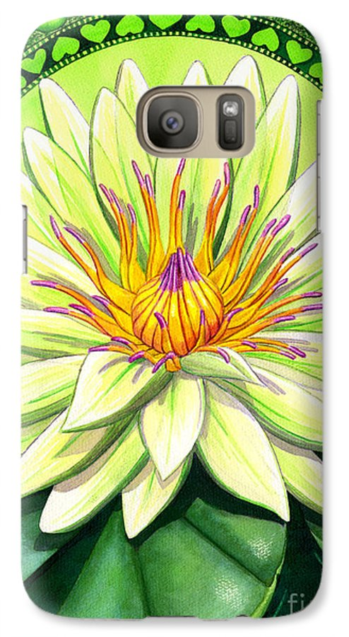Heart Galaxy S7 Case featuring the painting Heart Chakra by Catherine G McElroy