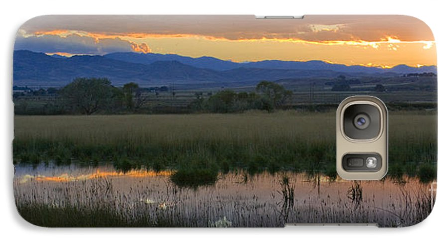 Canal Galaxy S7 Case featuring the photograph Heart Mountain Sunset by Idaho Scenic Images Linda Lantzy