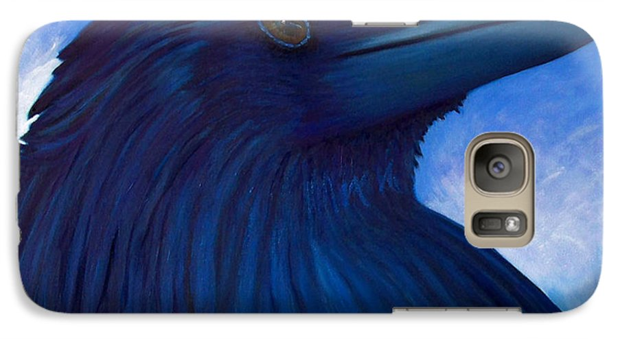 Raven Galaxy S7 Case featuring the painting Heaven Bound by Brian Commerford