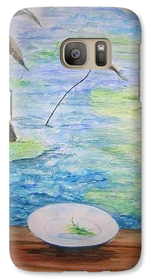 Feng Shui Study Galaxy S7 Case featuring the painting Heaven Sent Gentle Rain by Lizzy Forrester