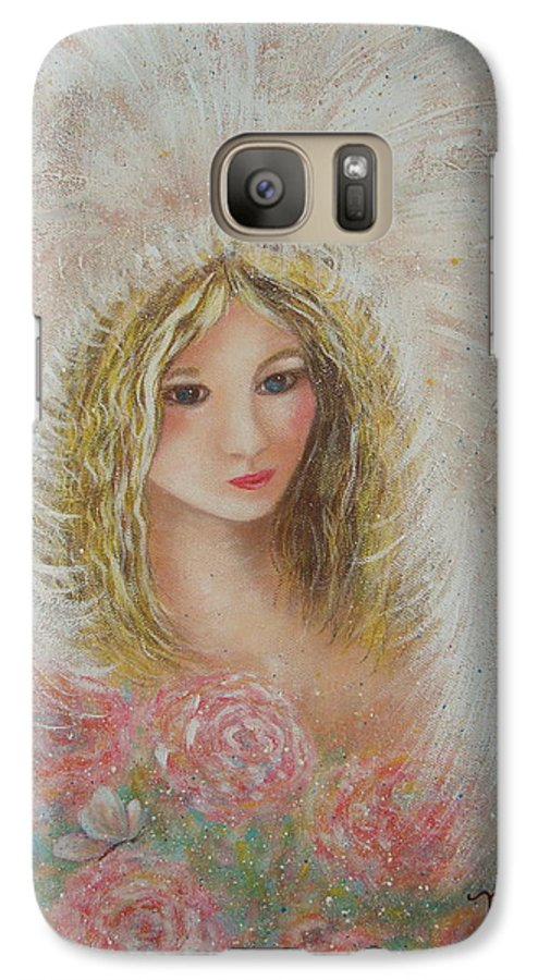 Angel Galaxy S7 Case featuring the painting Heavenly Angel by Natalie Holland