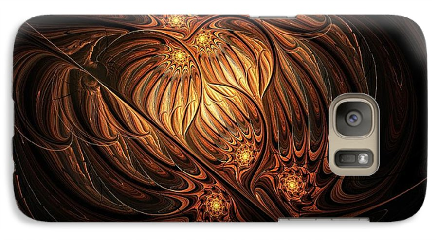 Digital Art Galaxy S7 Case featuring the digital art Heavenly Onion by Amanda Moore