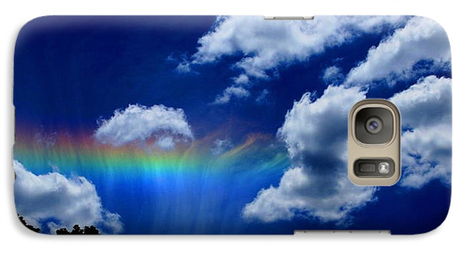 Heavens Rainbow Galaxy S7 Case featuring the photograph Heavens Rainbow by Linda Sannuti