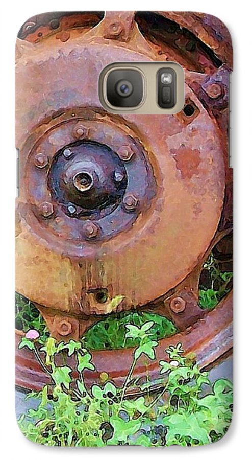 Rust Galaxy S7 Case featuring the photograph Heavy Metal by Debbi Granruth