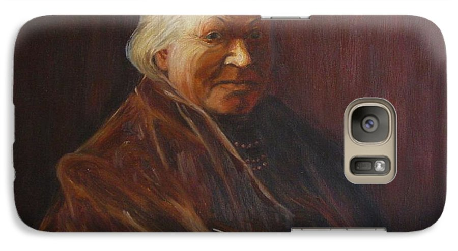 Woman Galaxy S7 Case featuring the painting Herbert Abrams Mother by Quwatha Valentine