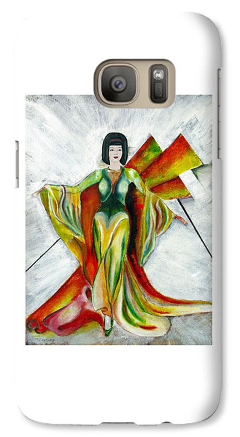 Dress Galaxy S7 Case featuring the painting Here Comes The Sun by Tom Conway