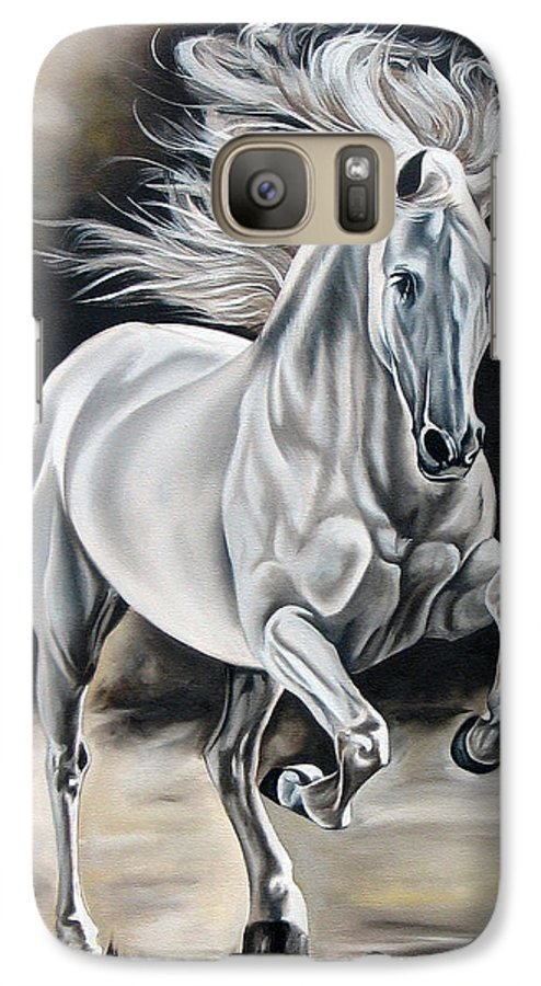 Horse Galaxy S7 Case featuring the painting Hereje by Ilse Kleyn