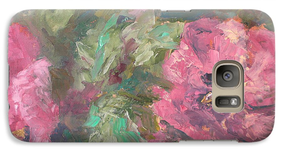 Oil Galaxy S7 Case featuring the painting Hibiscus by Lou Ewers