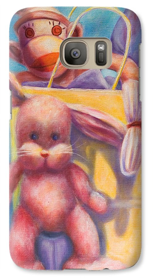 Children Galaxy S7 Case featuring the painting Hide And Seek by Shannon Grissom