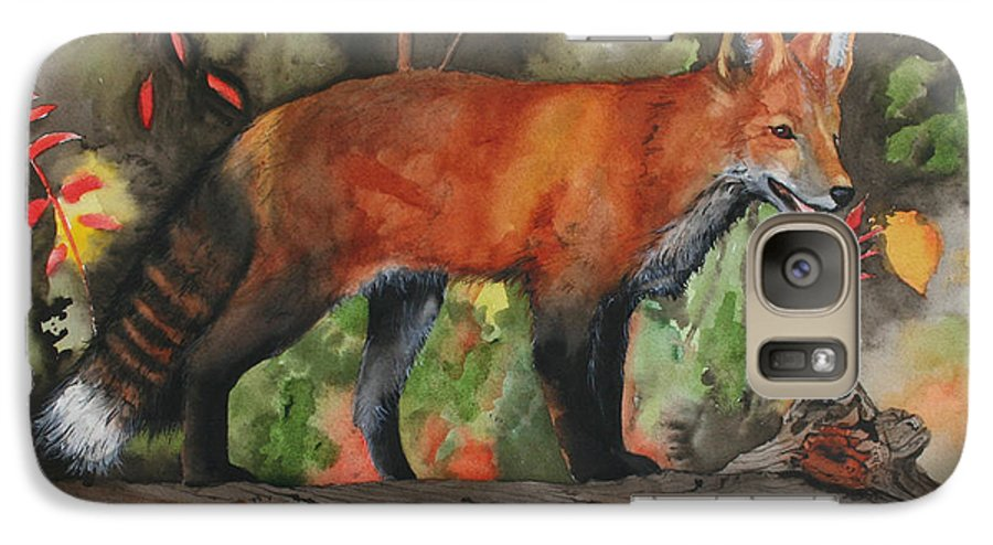 Fox Galaxy S7 Case featuring the painting Hiding In Plain Sight by Jean Blackmer