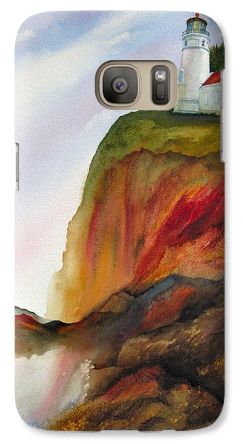 Coastal Galaxy S7 Case featuring the painting High Ground by Karen Stark