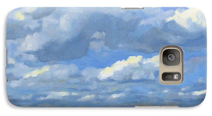 Landscape Galaxy S7 Case featuring the painting High Summer by Bruce Morrison
