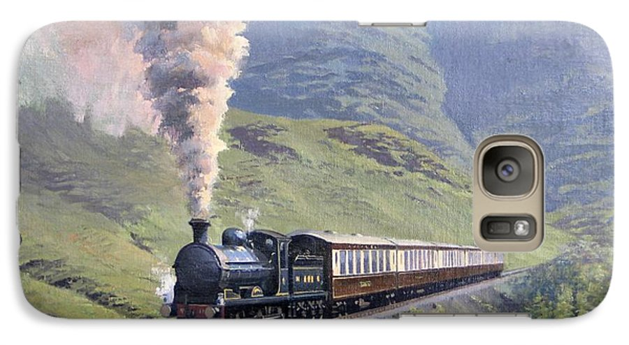 Steam Galaxy S7 Case featuring the painting Highland Steam by Richard Picton