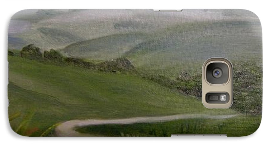 Pathway Galaxy S7 Case featuring the painting Highway Into The Hills by Toni Berry