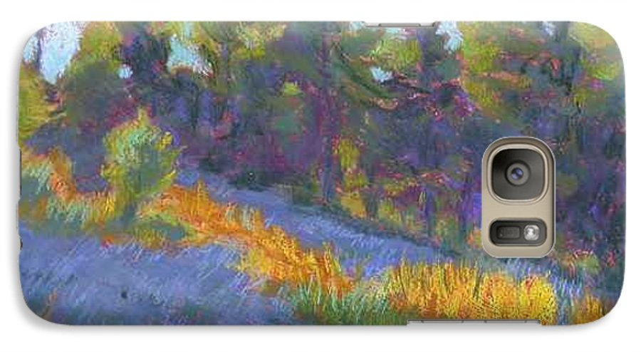 View Of Hillside And Evening Shadows Galaxy S7 Case featuring the painting Hillside Shadows by Julie Mayser