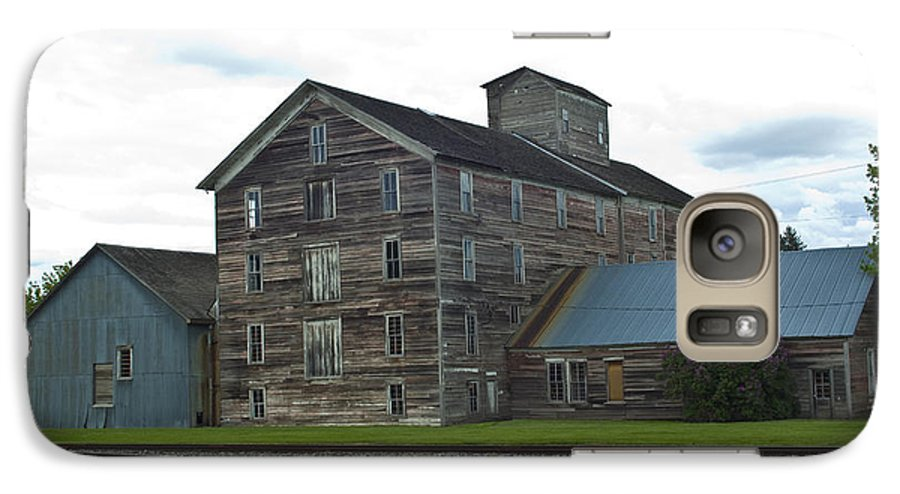Historical Galaxy S7 Case featuring the photograph Historical Barron Wheat Flour Mill In Oakesdale Wa by Louise Magno