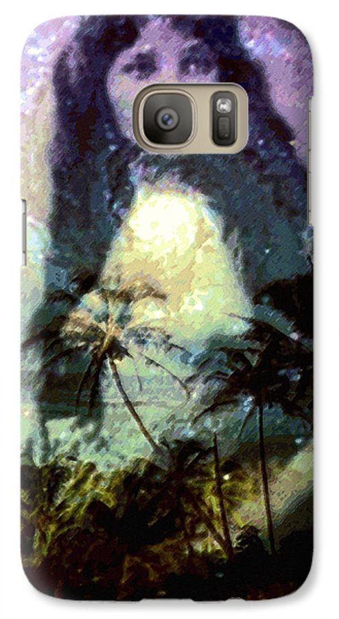 Tropical Interior Design Galaxy S7 Case featuring the photograph Ho Omana O by Kenneth Grzesik