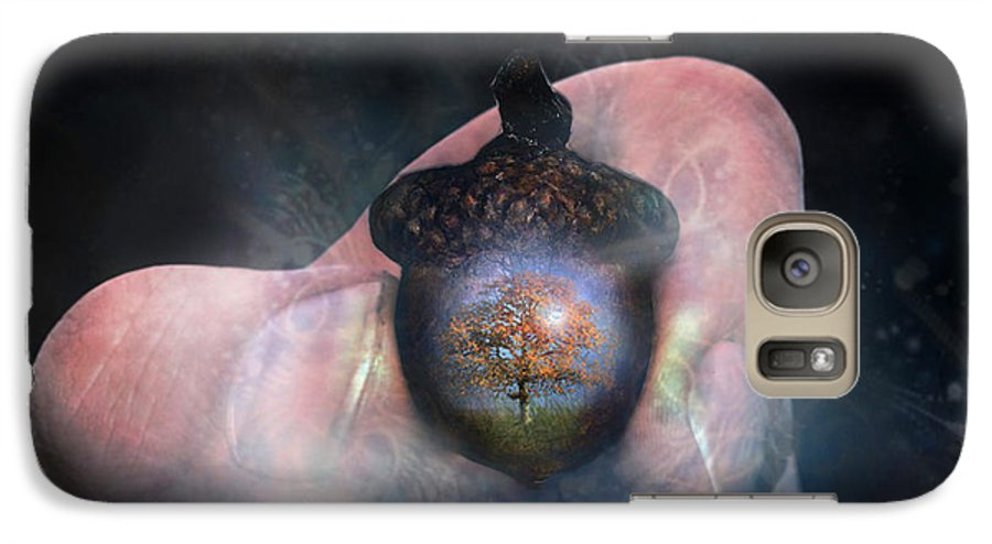 Hold Galaxy S7 Case featuring the digital art Hold On To Your Future by Carrie Jackson