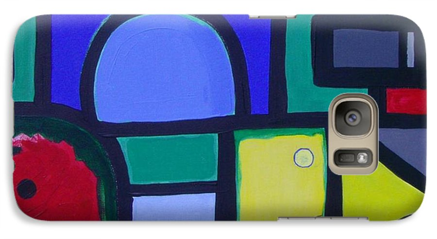 Street Galaxy S7 Case featuring the painting Hommage A Mark Rothko by Michael Puya