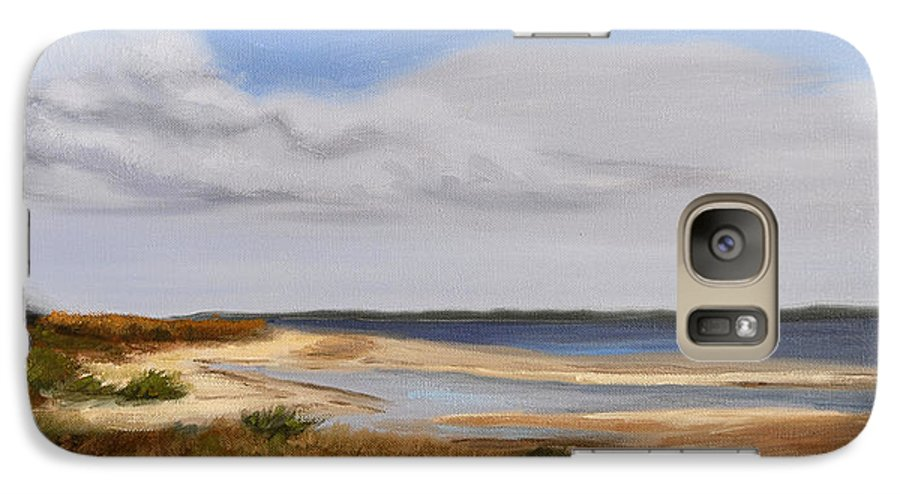 Landscape Galaxy S7 Case featuring the painting Honeymoon Island by Greg Neal