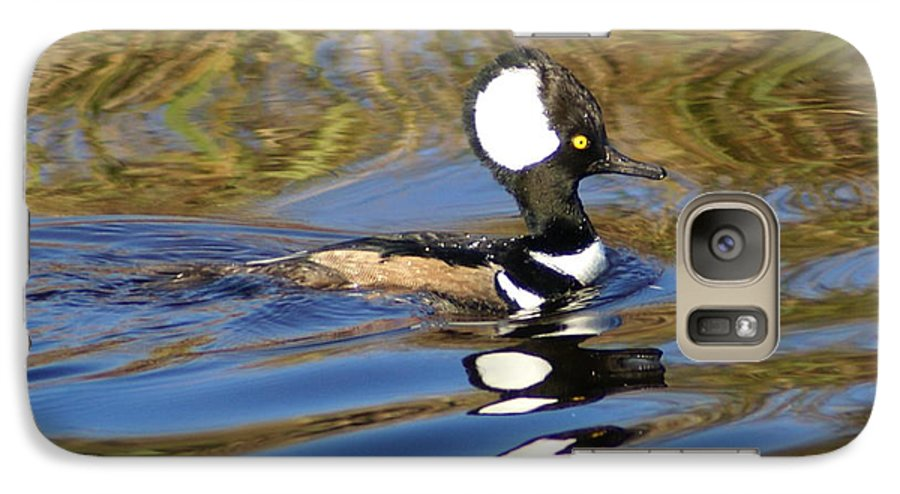 Duck Galaxy S7 Case featuring the photograph Hooded Mersanger by Debbie May