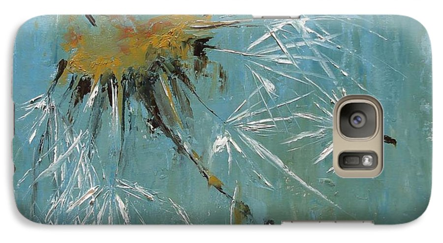 Plants Galaxy S7 Case featuring the painting Hopes by Barbara Andolsek