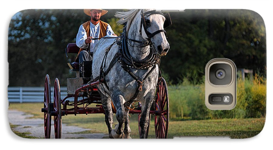 Horse Galaxy S7 Case featuring the photograph Horse And Buggy by Lone Dakota Photography