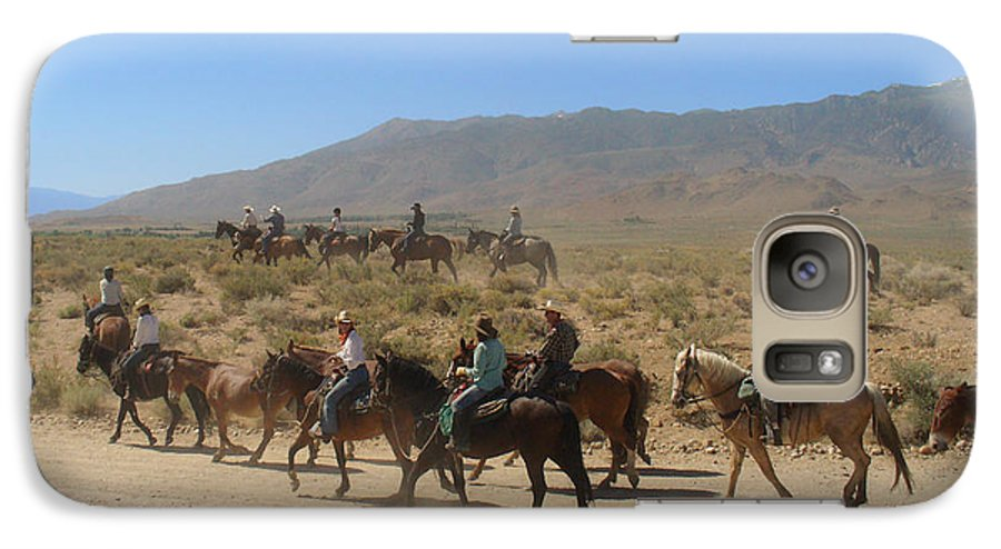 Horses Galaxy S7 Case featuring the photograph Horse Drive From June Lake To Bishop California by Christine Till