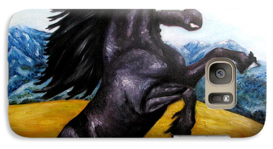 Horse Galaxy S7 Case featuring the painting Horse Oil Painting by Natalja Picugina