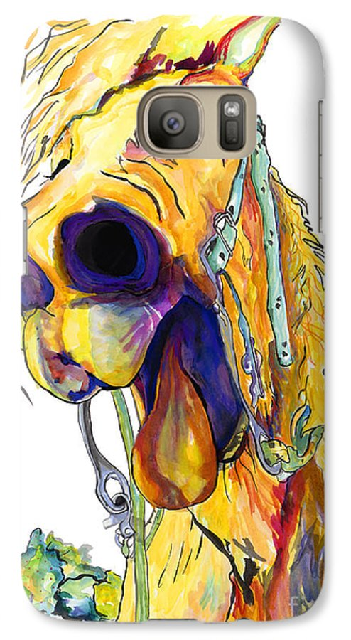 Animal Painting Galaxy S7 Case featuring the painting Horsing Around by Pat Saunders-White