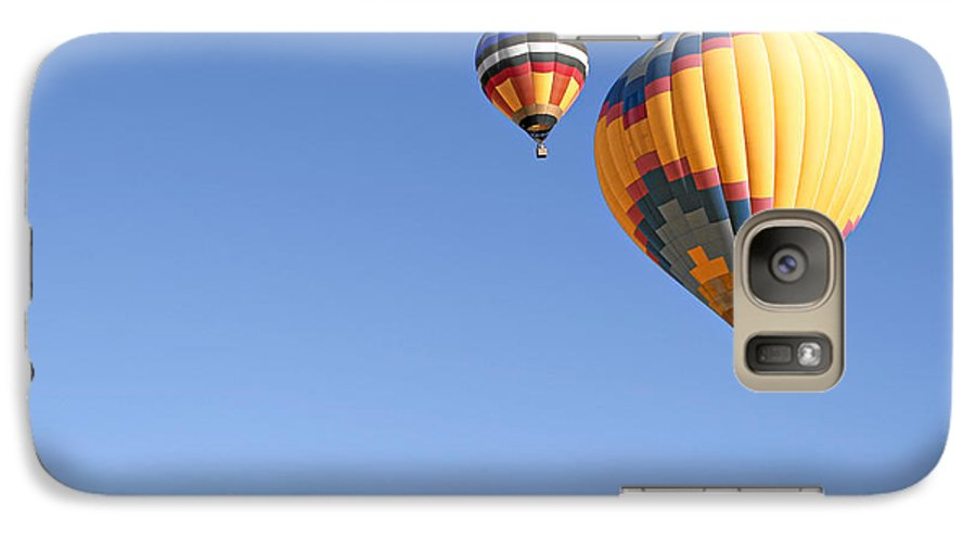 Balloons Galaxy S7 Case featuring the photograph Hot Air Balloon Ride A Special Adventure by Christine Till