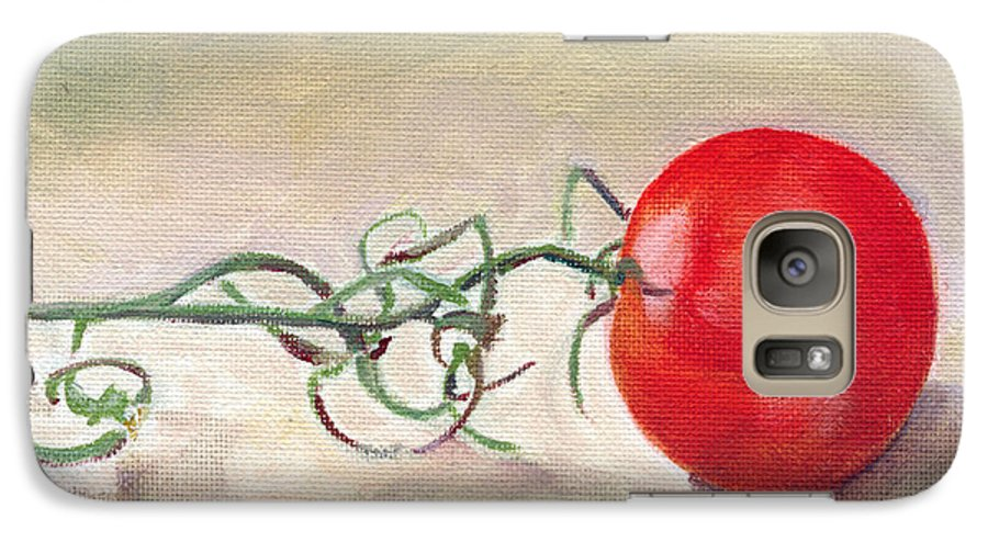 Food Galaxy S7 Case featuring the painting Hot-house Tomato by Sarah Lynch