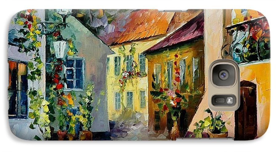 Landscape Galaxy S7 Case featuring the painting Hot Noon Original Oil Painting by Leonid Afremov