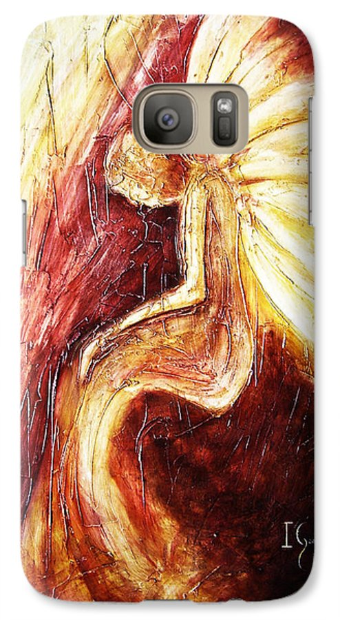 Angel Galaxy S7 Case featuring the painting Hoy Manana Y Siempre by Ivan Guaderrama
