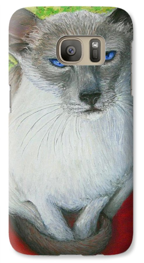 Siamese Galaxy S7 Case featuring the painting I Am Siamese If You Please by Minaz Jantz