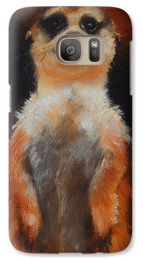 Oil Galaxy S7 Case featuring the painting I See You Too by Greg Neal