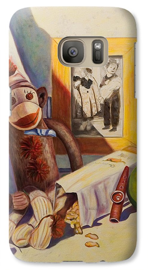 Children Galaxy S7 Case featuring the painting I Will Remember You by Shannon Grissom