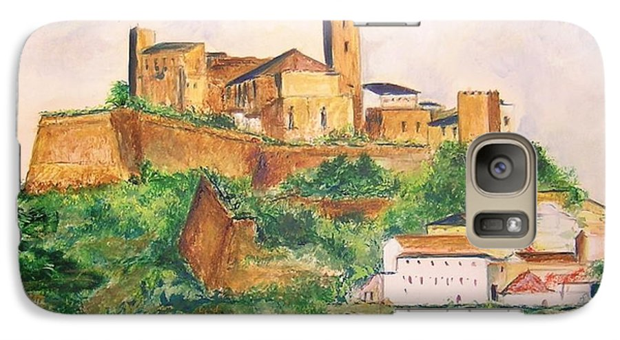 Landscape Galaxy S7 Case featuring the painting Ibiza Old Town Unesco Site by Lizzy Forrester