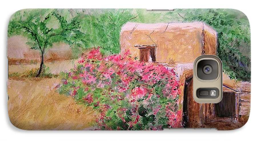 Rustic Galaxy S7 Case featuring the painting Ibiza Rustica by Lizzy Forrester