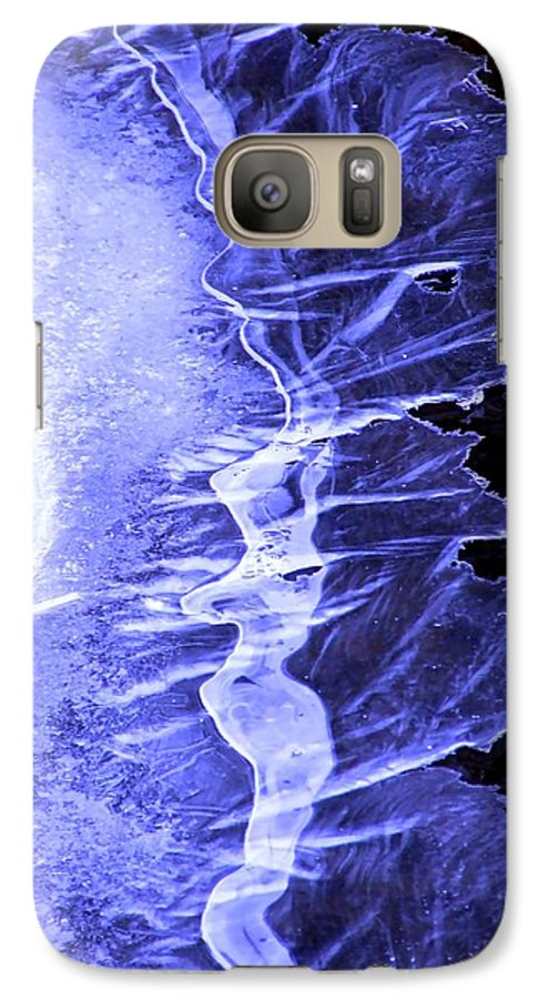 Ice Galaxy S7 Case featuring the photograph Blue Ice by Tiffany Vest