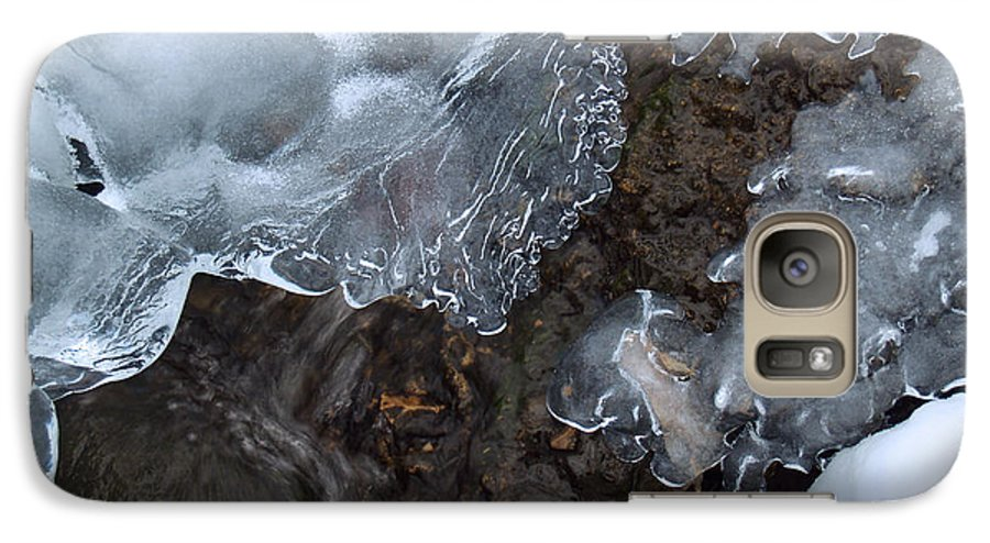 Snow Galaxy S7 Case featuring the photograph Icy Creek In Pocono Mountains by Anna Lisa Yoder